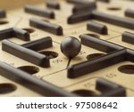 close up of a labyrinth game | Shutterstock . vector #97508642