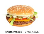 burger from the fast food... | Shutterstock . vector #97514366