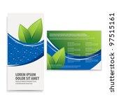 tri fold business brochure... | Shutterstock .eps vector #97515161