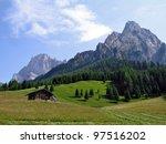 summer in the alps   italy  ... | Shutterstock . vector #97516202