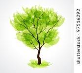 illustration of stylized summer ... | Shutterstock .eps vector #97516292