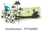 summer grunge banner with... | Shutterstock .eps vector #97516805