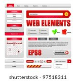 hi end web interface design... | Shutterstock .eps vector #97518311