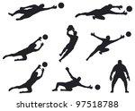 goalkeeper | Shutterstock .eps vector #97518788