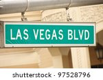 green las vegas sign with hotel ... | Shutterstock . vector #97528796