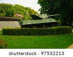 Allied Sherman Tank In Front Of ...