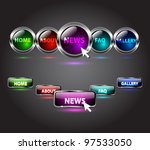 vector glossy website buttons...