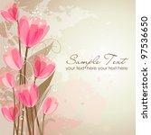 romantic flower background | Shutterstock .eps vector #97536650