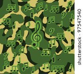 vector camouflage seamless...   Shutterstock .eps vector #97547540