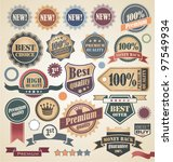 retro labels and stickers... | Shutterstock .eps vector #97549934