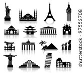 set of icons on the topic of... | Shutterstock .eps vector #97553708