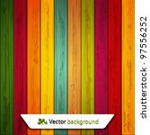 Vector Colorful Wooden...