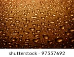Water Drops On Glass  Brown...