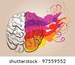 vector concept   creativity and ... | Shutterstock .eps vector #97559552