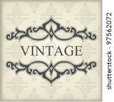 vintage template with floral... | Shutterstock .eps vector #97562072
