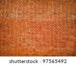 Big Red Grungy Brick Wall...