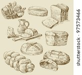 bread set | Shutterstock .eps vector #97573466