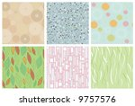 six simple seamless abstract... | Shutterstock .eps vector #9757576