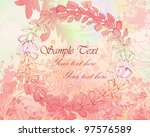 soft pink grungy background... | Shutterstock .eps vector #97576589