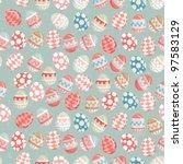 easter eggs    old easter... | Shutterstock .eps vector #97583129