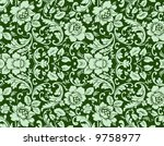 seamless floral wallpaper | Shutterstock . vector #9758977