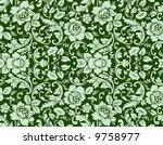 seamless floral wallpaper   Shutterstock . vector #9758977