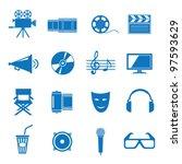 vector illustration icons on... | Shutterstock .eps vector #97593629