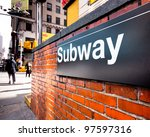 Subway Entrance Sign At A...
