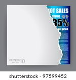 modern advertisement sheet with ... | Shutterstock .eps vector #97599452