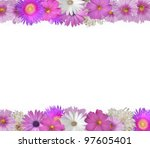 cheerful  border of pink and... | Shutterstock . vector #97605401