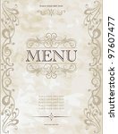 menu cover vector design | Shutterstock .eps vector #97607477