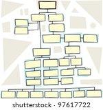 hand drawn flowchart for family ... | Shutterstock .eps vector #97617722