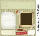 scrapbooking set   old paper ... | Shutterstock .eps vector #97631840