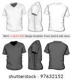 vector. men's v neck t shirt... | Shutterstock .eps vector #97632152