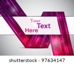 abstract pink card. vector... | Shutterstock .eps vector #97634147
