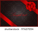 vector vintage  greeting card ... | Shutterstock .eps vector #97637054