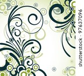 an abstract green floral... | Shutterstock .eps vector #97637096