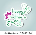 happy mother s day | Shutterstock .eps vector #97638194