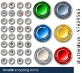shopping icons along with... | Shutterstock .eps vector #97639565