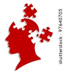 Stock photo people head with puzzles elements for psychology or medical concept design vector version also 97640705