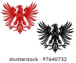 power retro eagles for heraldry ... | Shutterstock . vector #97640732