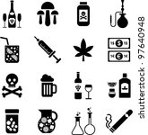 drinks and drugs icons   Shutterstock .eps vector #97640948