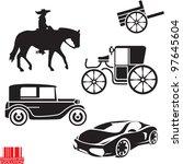 transportation evolution. car... | Shutterstock .eps vector #97645604