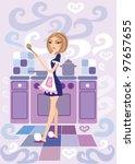 cooker | Shutterstock .eps vector #97657655