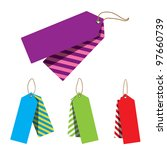 doubled price tags | Shutterstock . vector #97660739