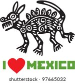 i love mexico template design | Shutterstock .eps vector #97665032