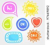 colorful speech bubbles | Shutterstock .eps vector #97669892