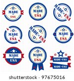 set of labels made in usa.... | Shutterstock .eps vector #97675016