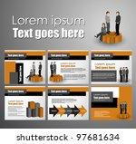 business brochure design | Shutterstock .eps vector #97681634