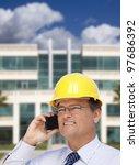 handsome contractor in hardhat...   Shutterstock . vector #97686392
